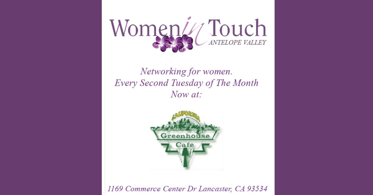 Women in Touch AV - Ladies Networking Breakfast December
