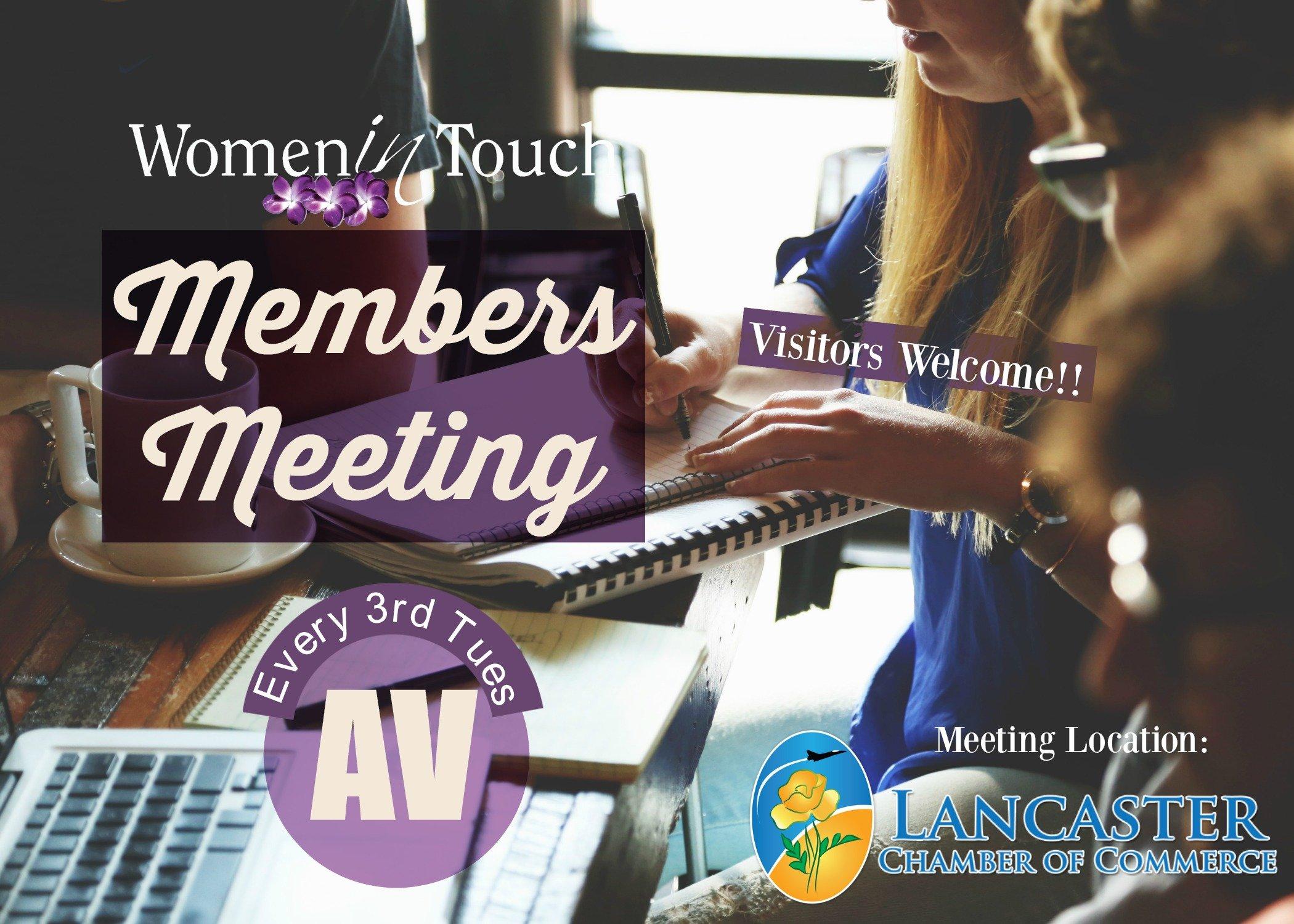 Women in Touch AV Members Meeting - Visitors Welcome!